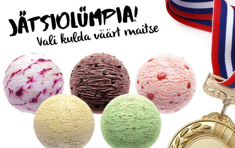 JÄTSIOLÜMPIA: Osale mängus – loosime 6 kasti jäätist!