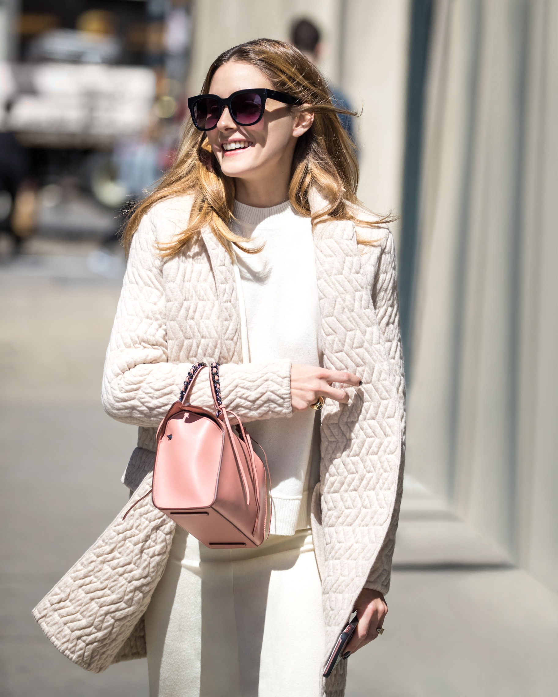 EXCLUSIVE: Olivia Palermo is enjoying a sunny day in Brooklyn, New York. Pictured: Olivia Palermo Ref: SPL1474735 100417 EXCLUSIVE Picture by: S Splash News and Pictures Los Angeles:310-821-2666 New York:212-619-2666 London:870-934-2666 photodesk@splashnews.com