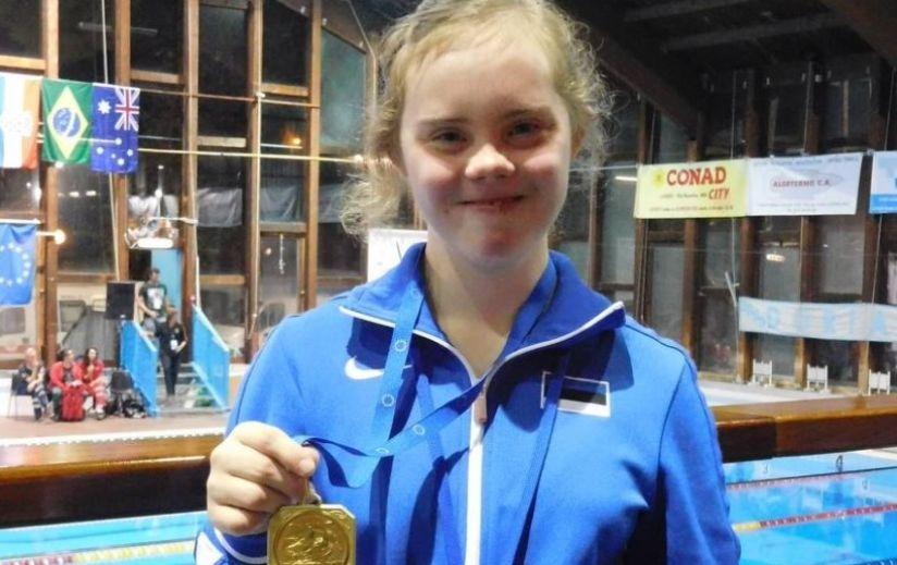 AITAME KOOS! Downi sündroomiga ujuja Maria Rein INAS`e maailmameistrivõistlustele